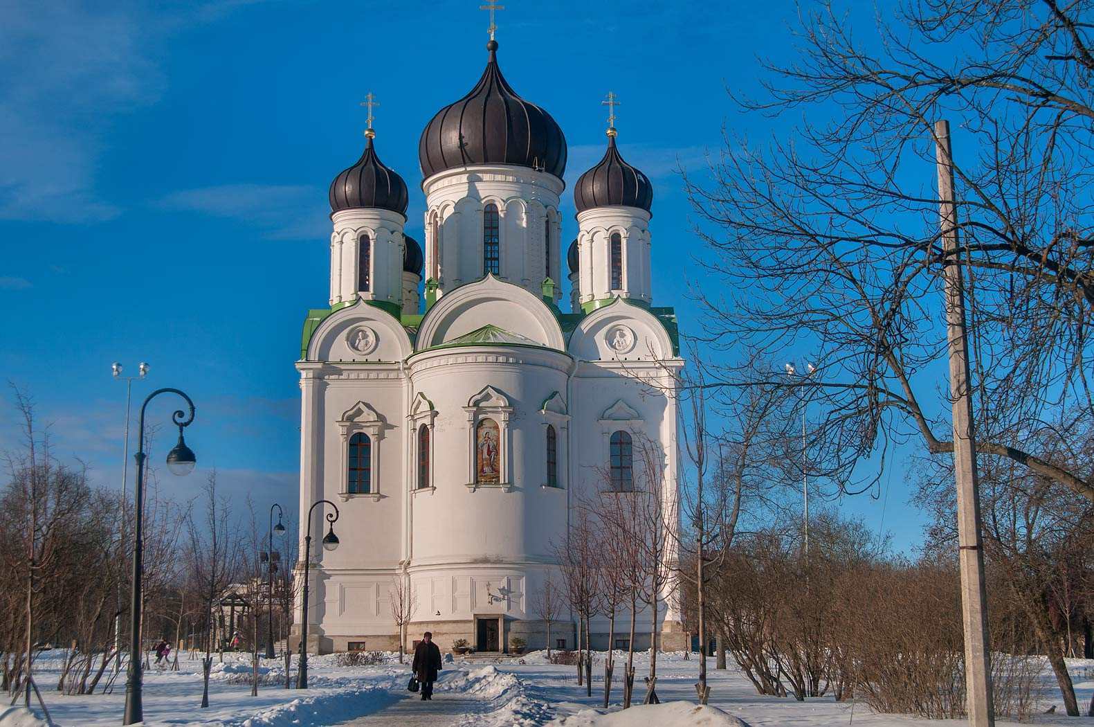 A church on central square that was built to...a suburb of St.Petersburg, Russia