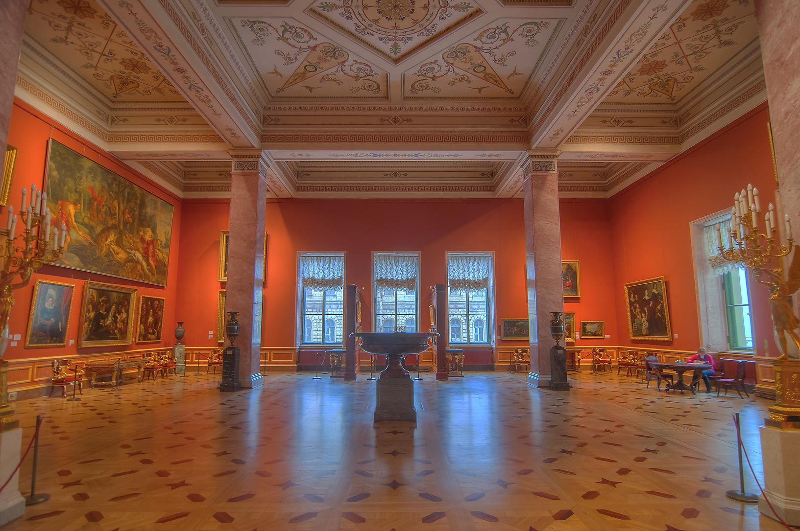 A hall in Hermitage Museum. St.Petersburg, Russia