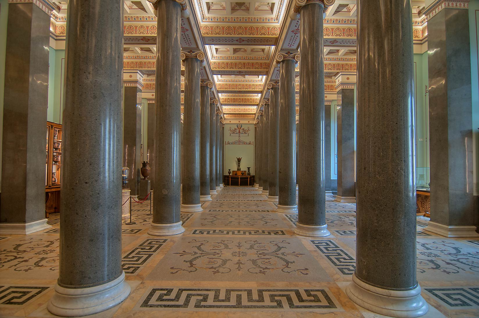 Twenty-Column Hall in Hermitage Museum. St.Petersburg, Russia
