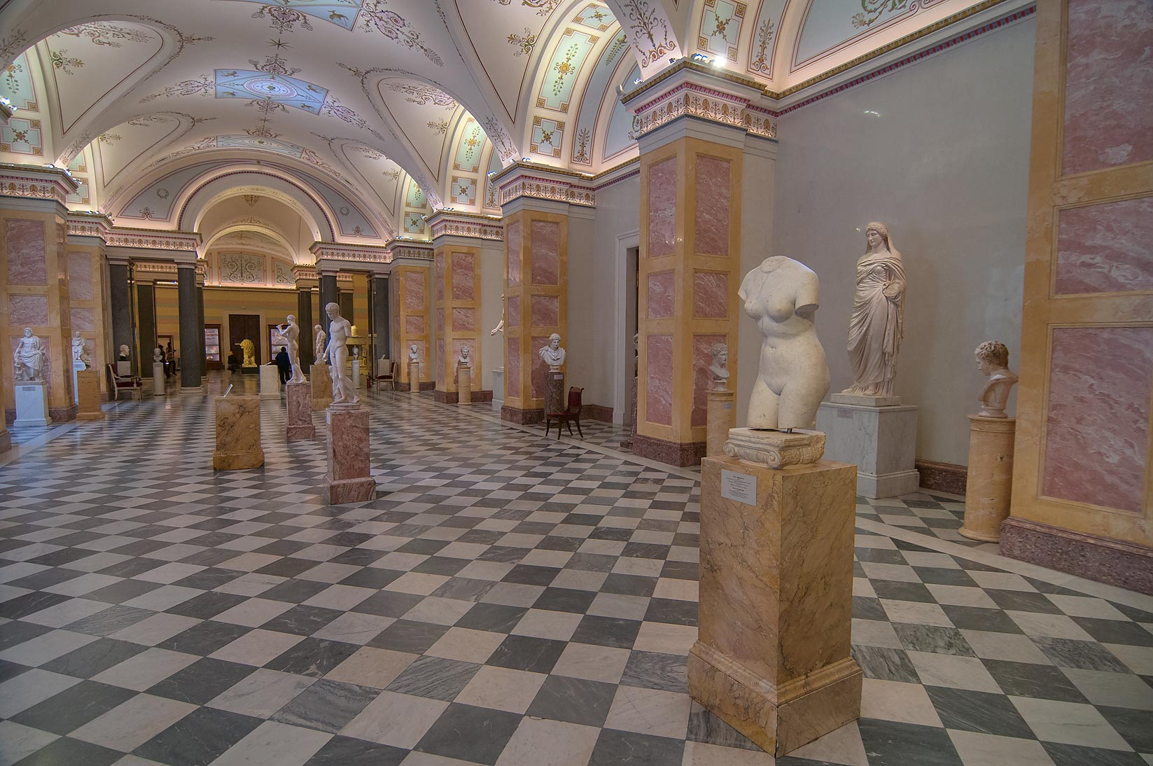 Replicas of ancient statues in Hermitage Museum. St.Petersburg, Russia