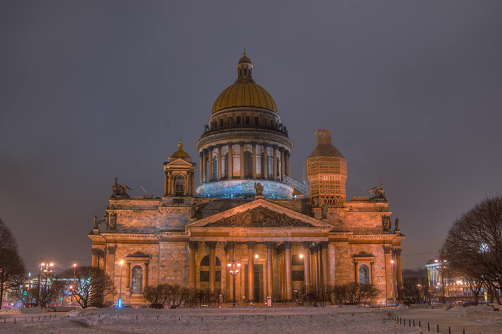 St.Isaac Cathedral at evening. St.Petersburg, Russia