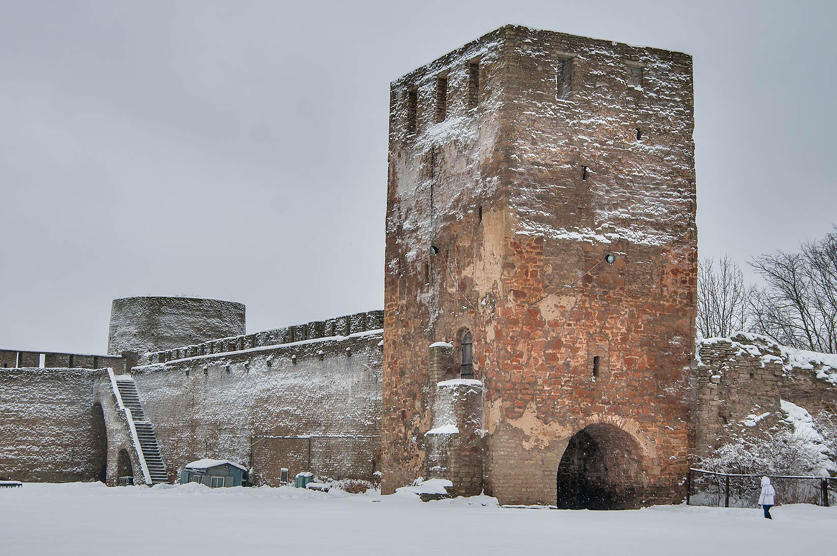 Tower of Ivan Gorod Fortress. Leningrad Region, Russia