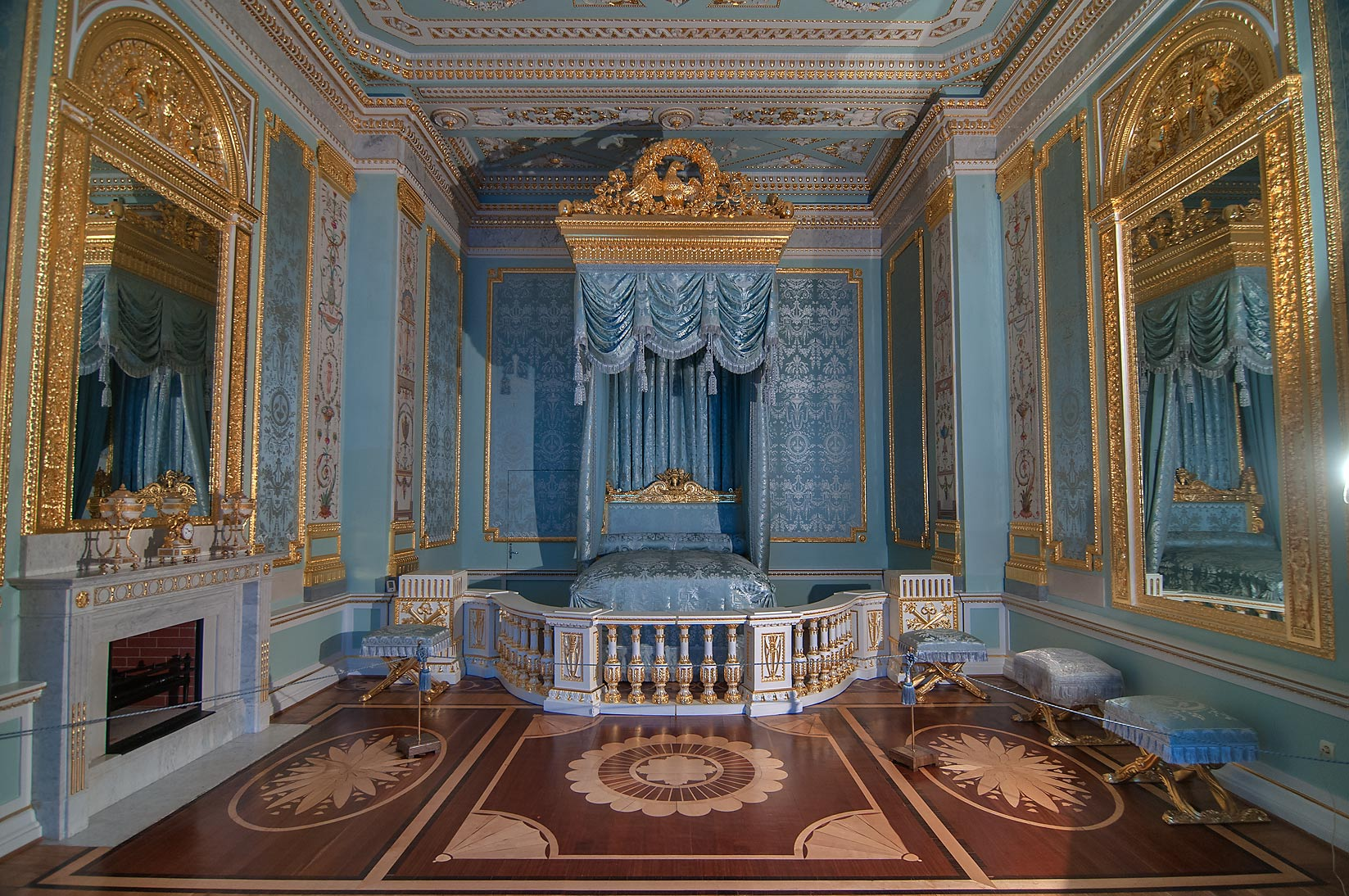 Grand bedroom in Gatchina Palace. Gatchina, suburb of St.Petersburg, Russia