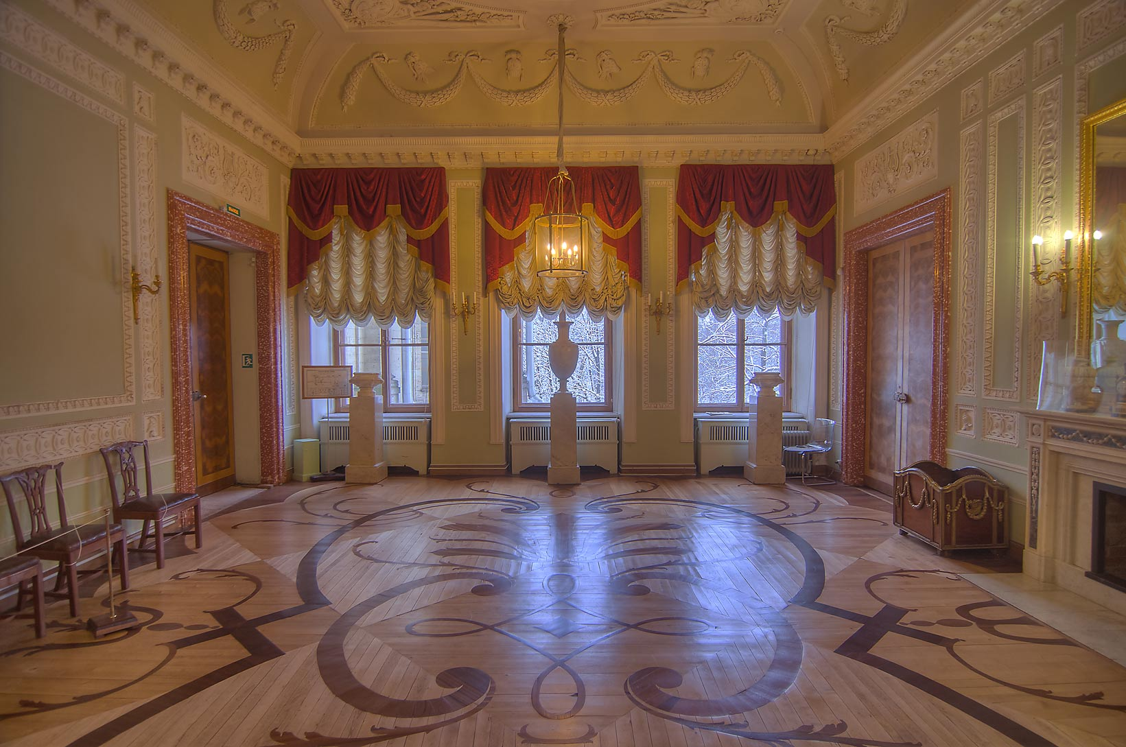 A room in Gatchina Palace. Gatchina, suburb of St.Petersburg, Russia