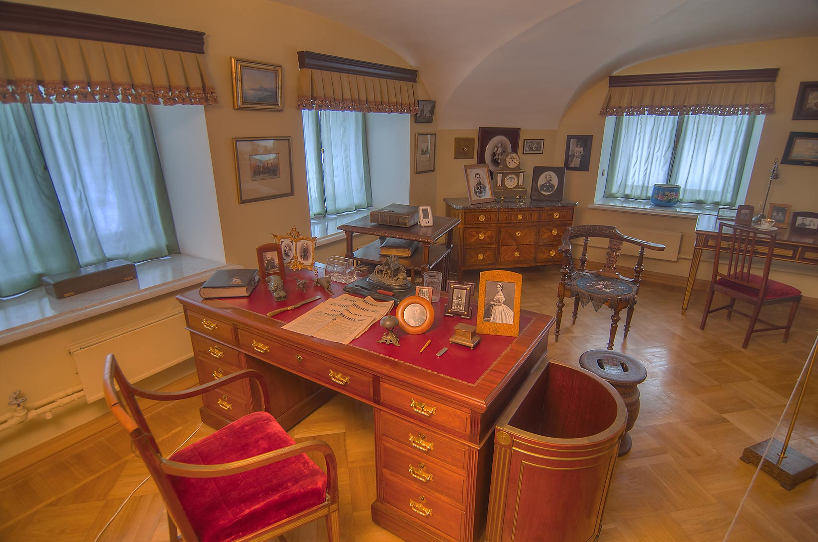 A room with a desk in Gatchina Palace. Gatchina, suburb of St.Petersburg, Russia