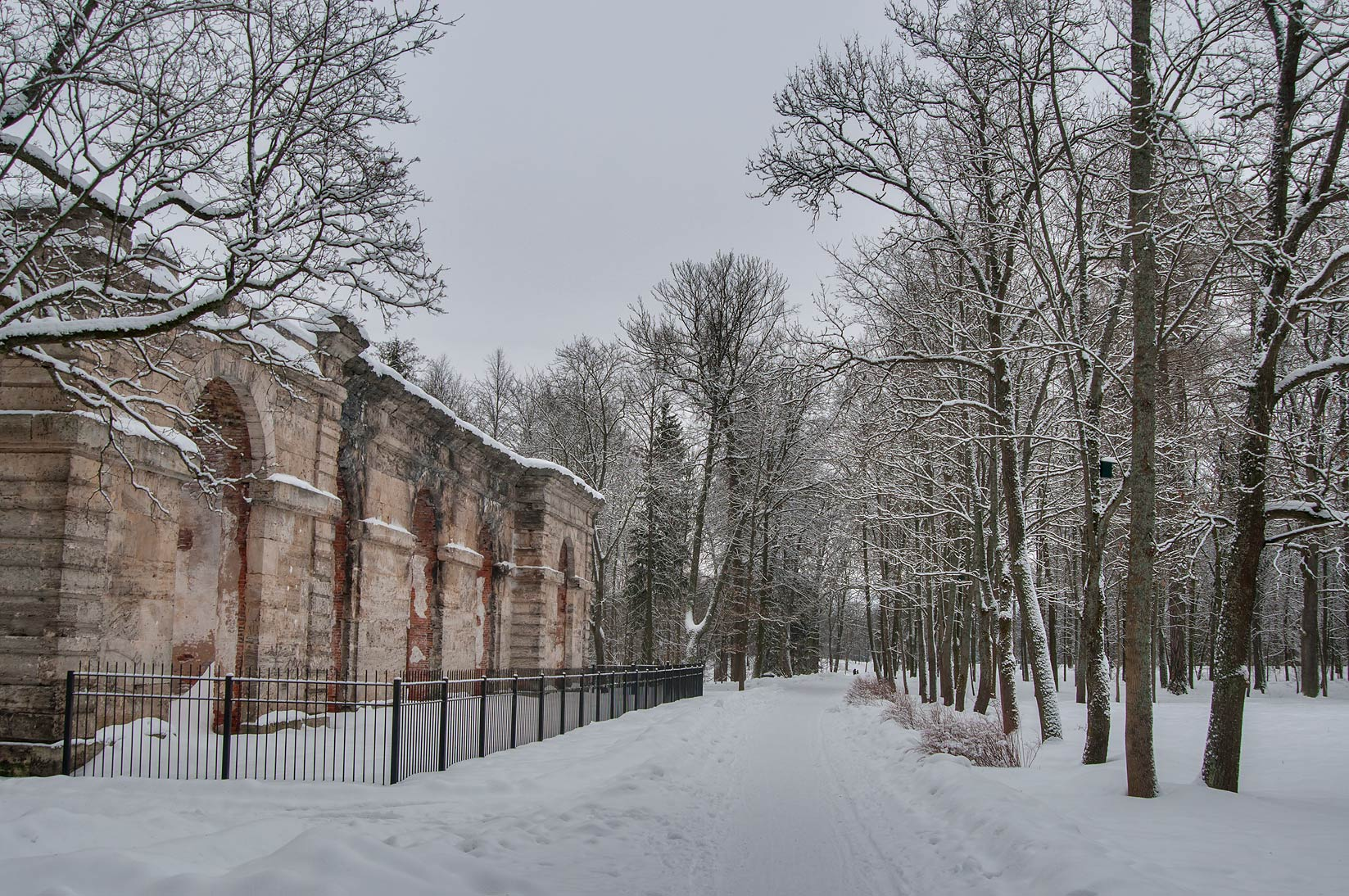 Forest Greenhouse in the park of Gatchina, suburb of St.Petersburg, Russia