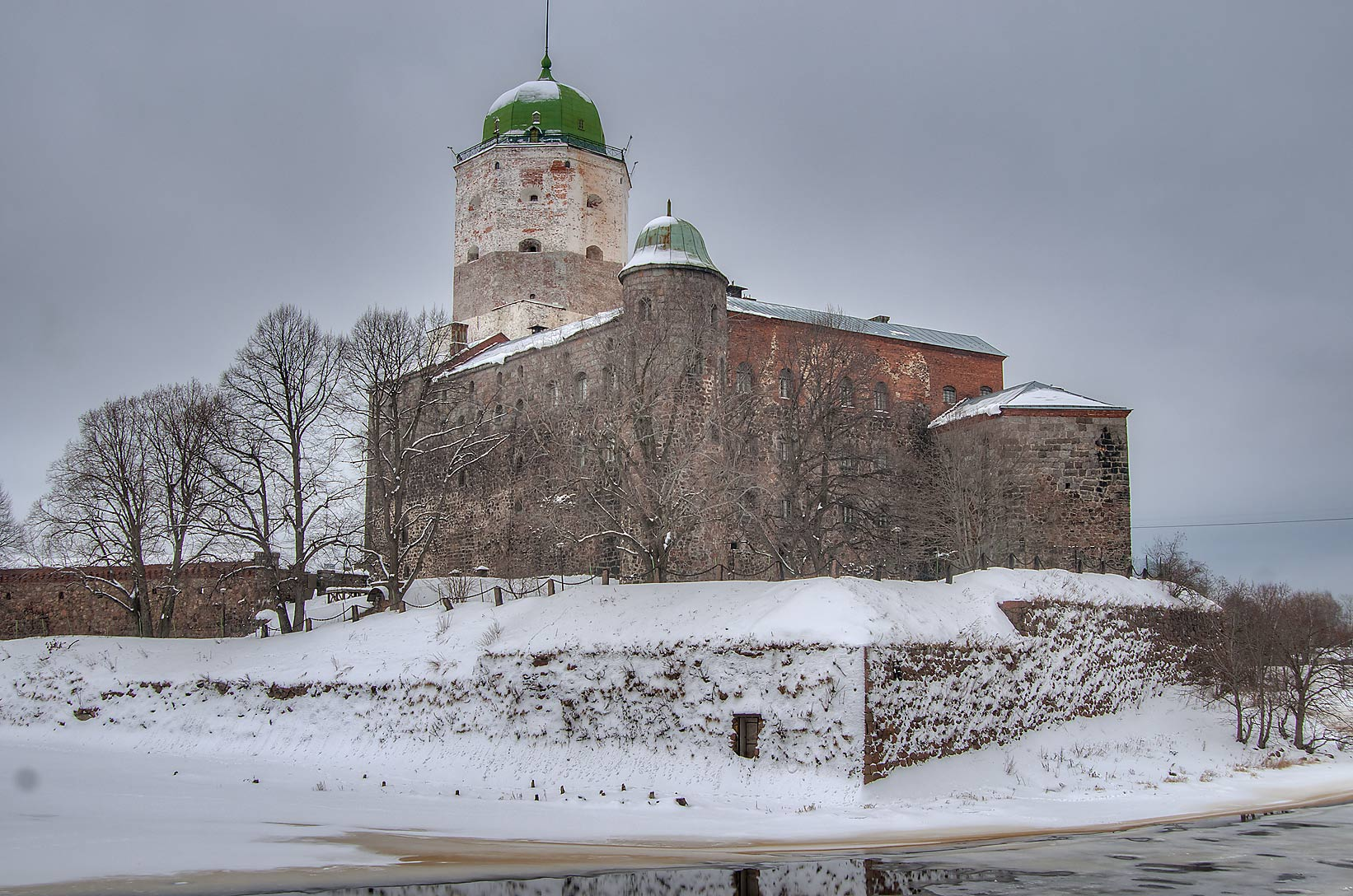 Vyborg Castle from south. Vyborg, Russia