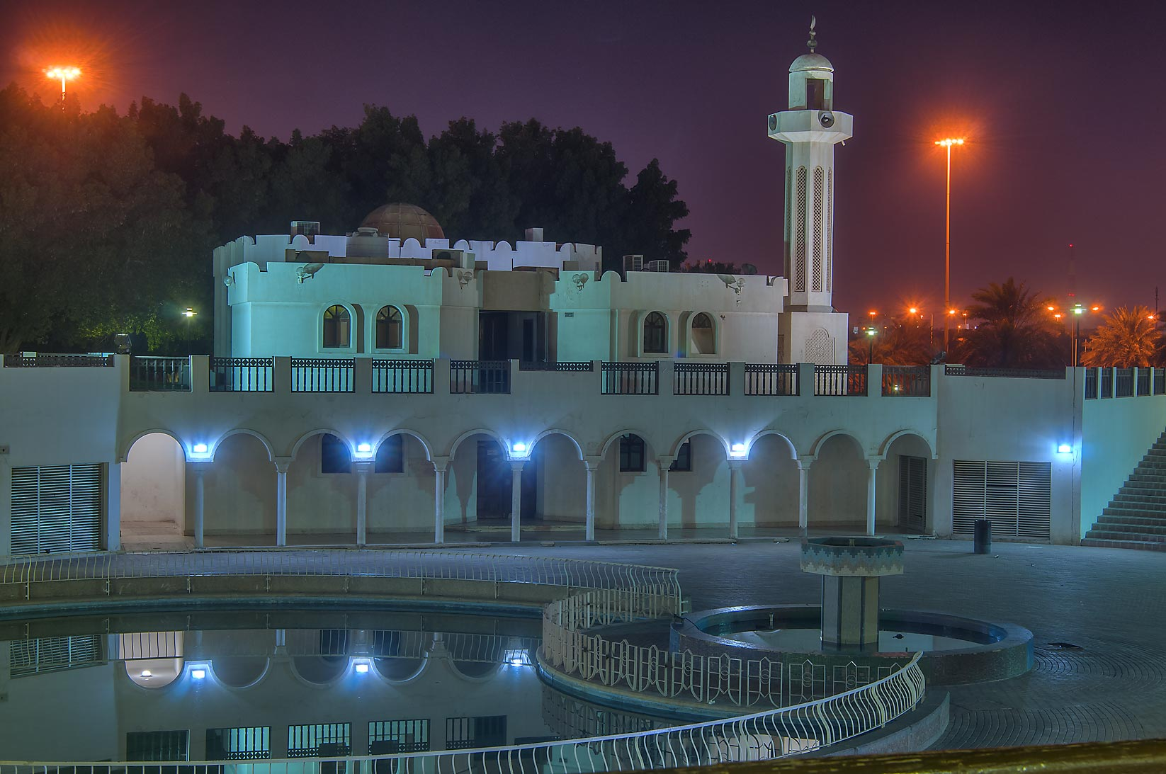 Mosque of Al Bidda Park at morning. Doha, Qatar