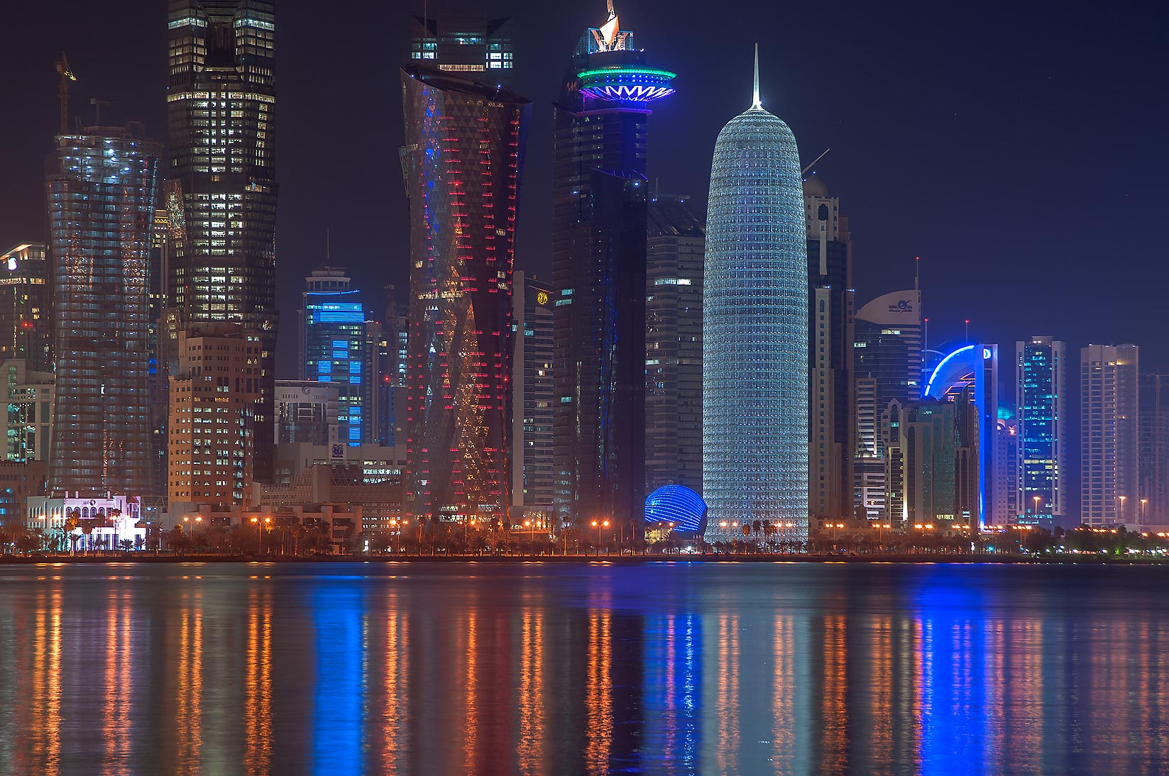 West Bay from Corniche, near Al Bidda (Rumeilah) Park. Doha, Qatar