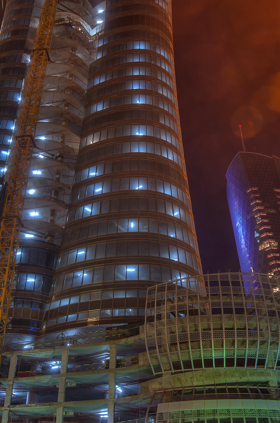QIIB Tower in West Bay in West Bay. Doha, Qatar