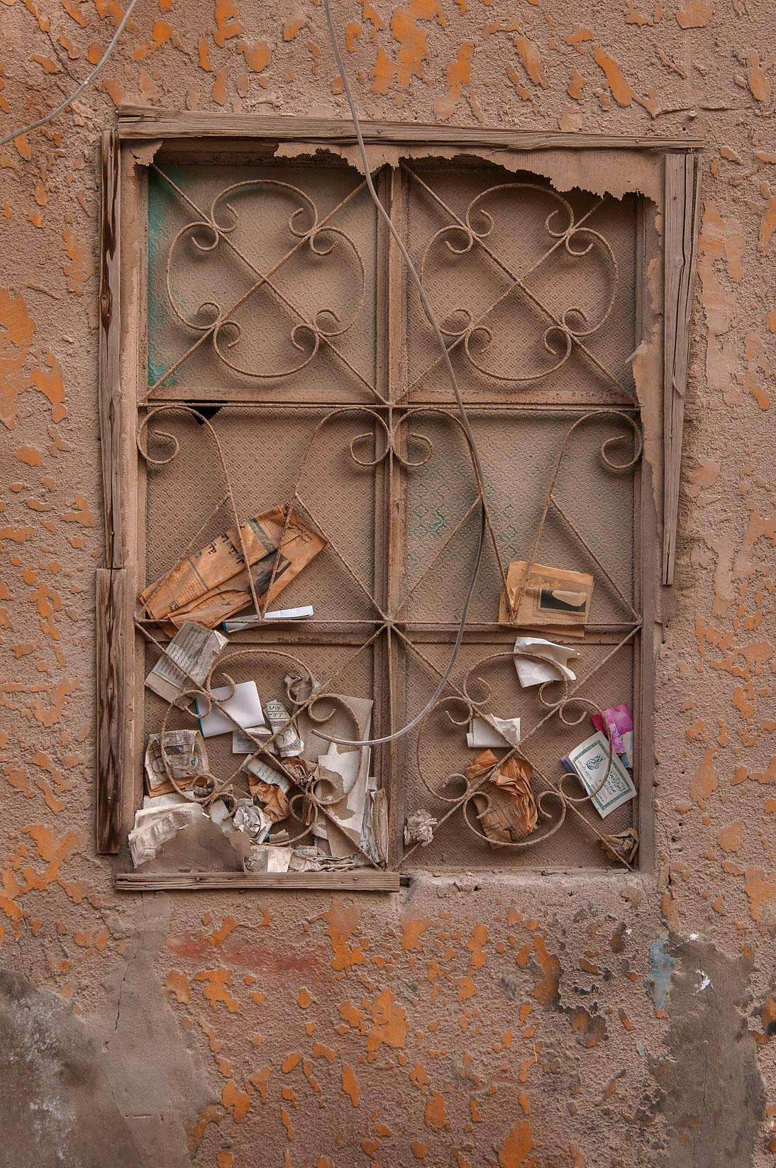 Window near Al Asmakh St., Musheirib area. Doha, Qatar