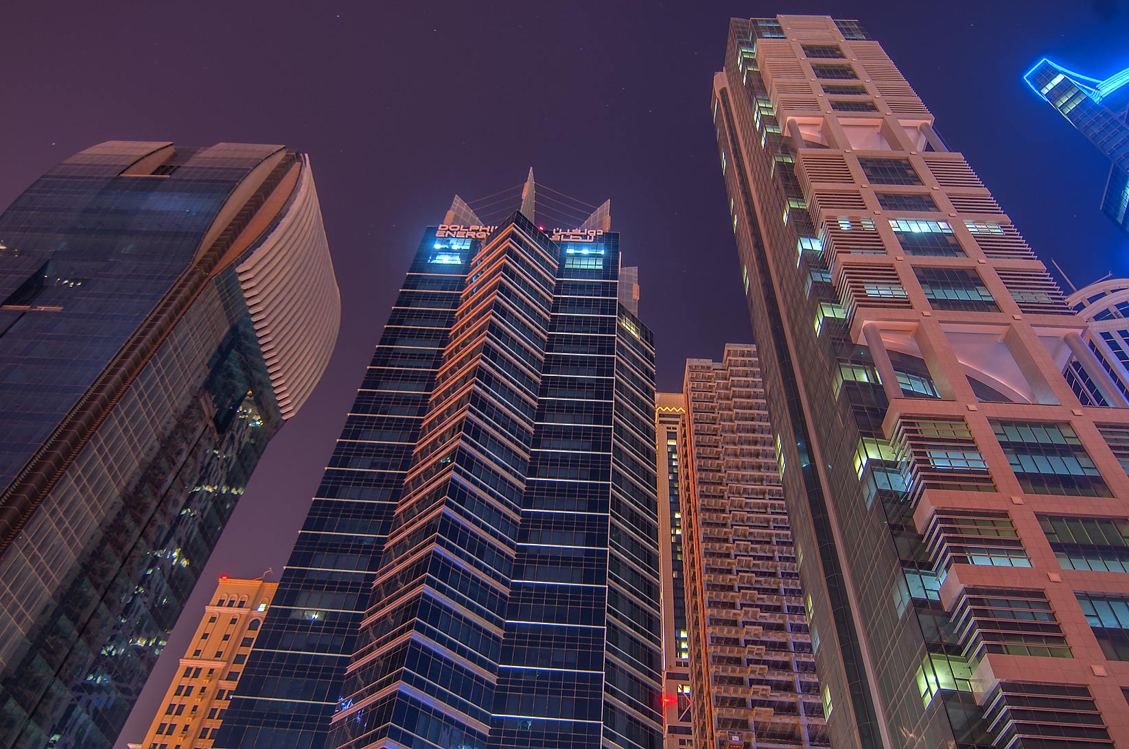 Dolphin Energy Tower in West Bay. Doha, Qatar