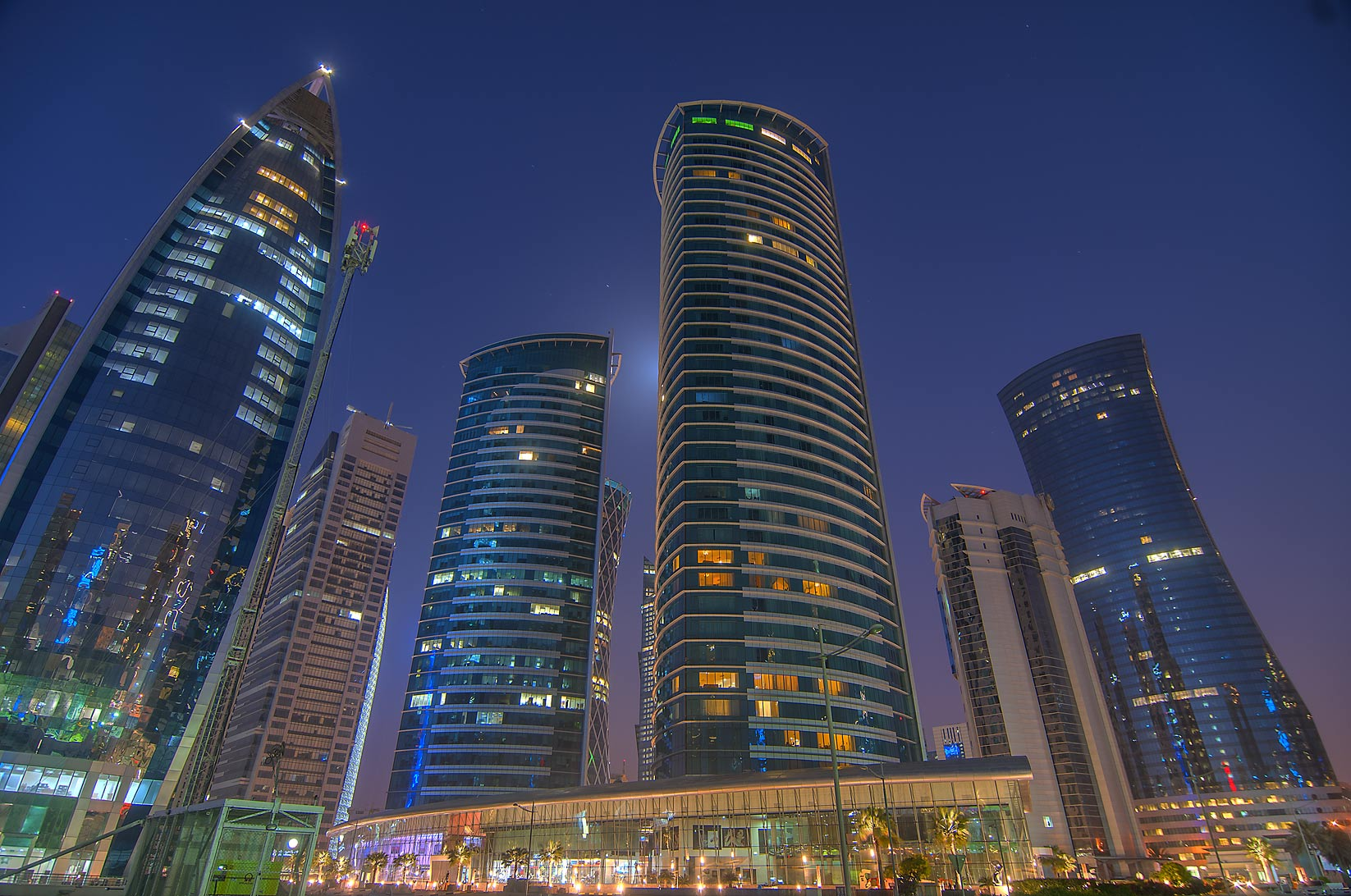 Al Fardan twin towers in West Bay. Doha, Qatar