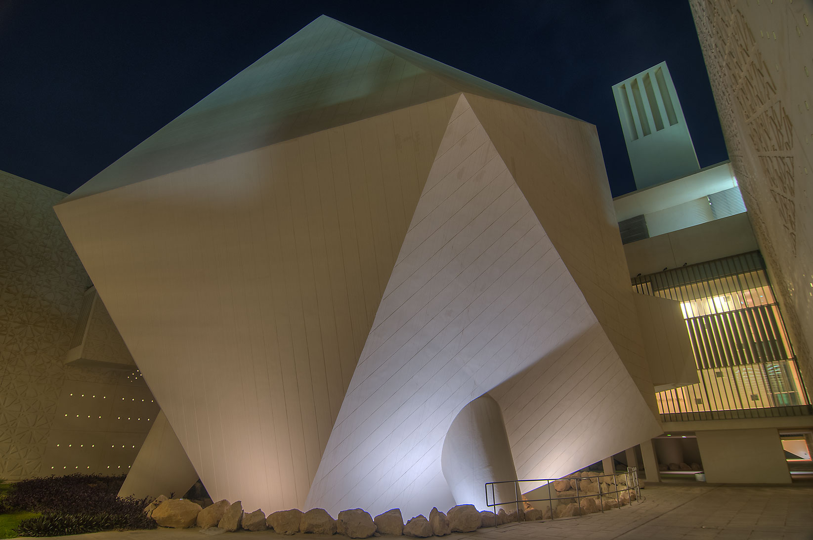 Icosahedron lecture hall of Weill Cornell Medical...City, Rayyan area. Doha, Qatar