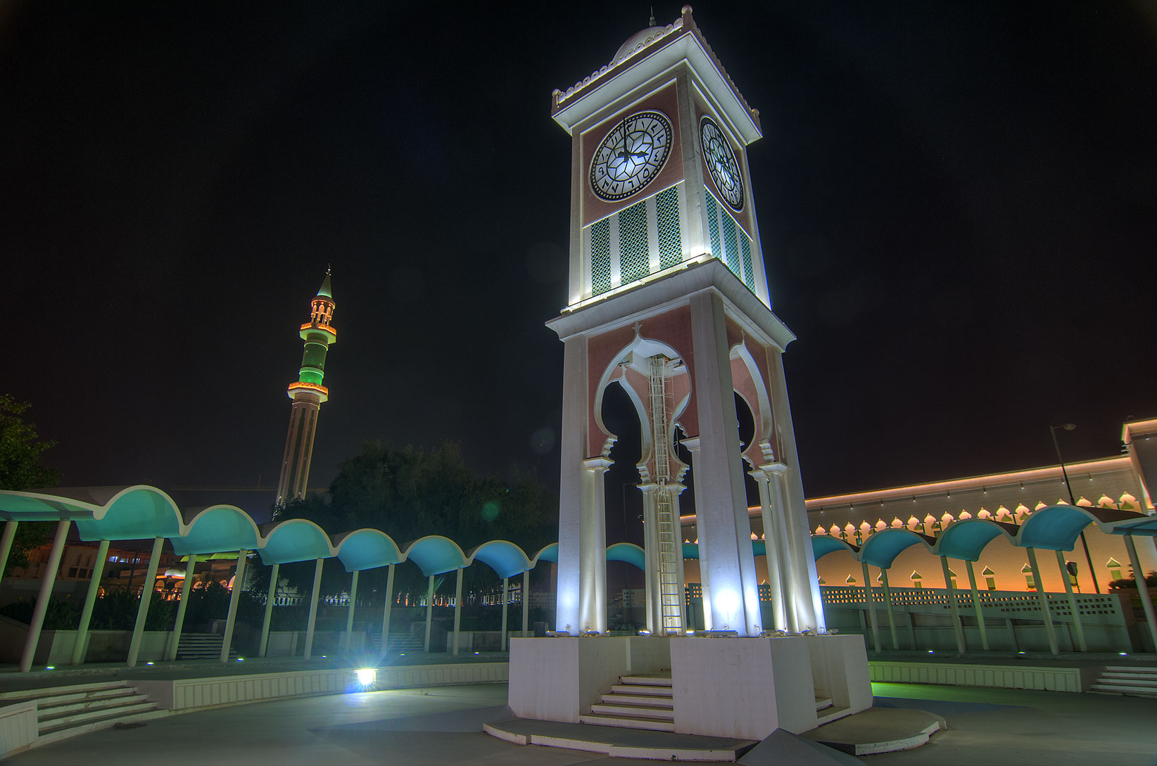 Grand Mosque and Clock Tower, Al Bidda area. Doha, Qatar