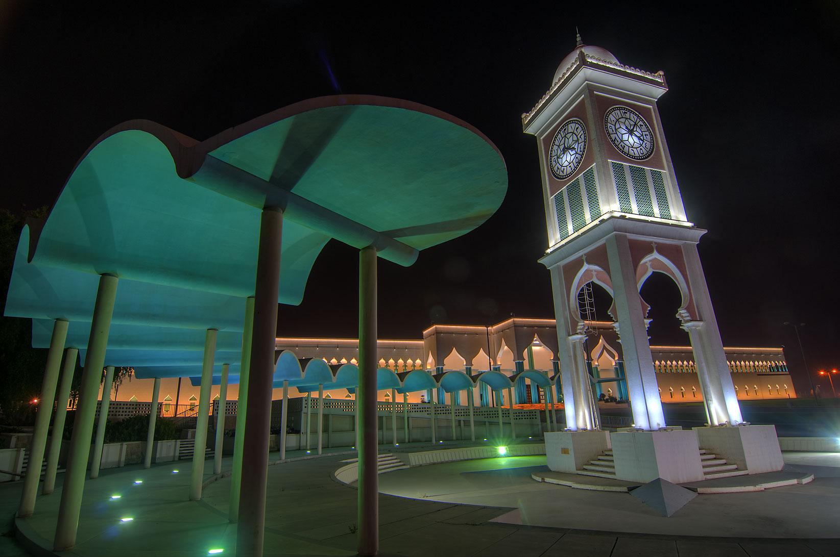 Photo 1168 09 clock tower and amiri diwan emir 39 s palace for Diwan amiri qatar