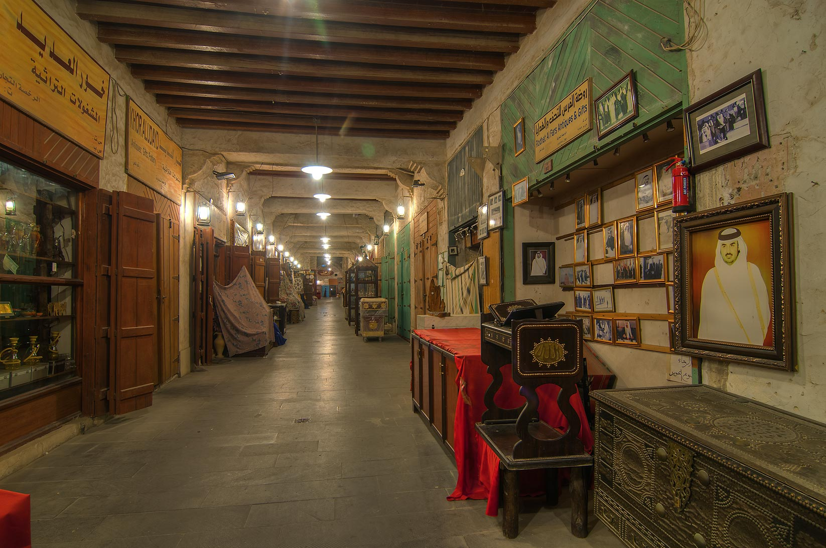 Gallery in Souq Waqif (Old Market). Doha, Qatar