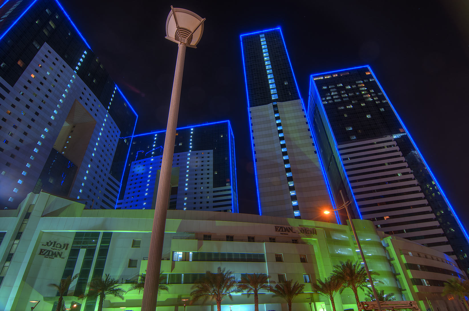 Corniche and West Bay in Doha, Qatar  - Ezdan Hotel in West Bay. Doha, Qatar
