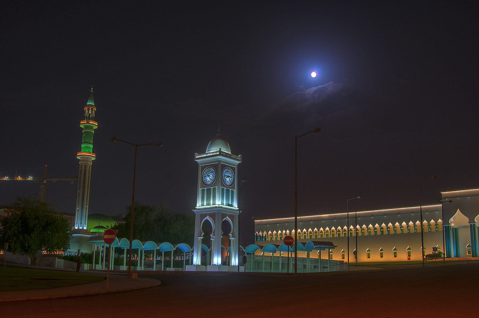 Clock Tower and Emir's Diwan (palace) near Souq Waqif. Doha, Qatar