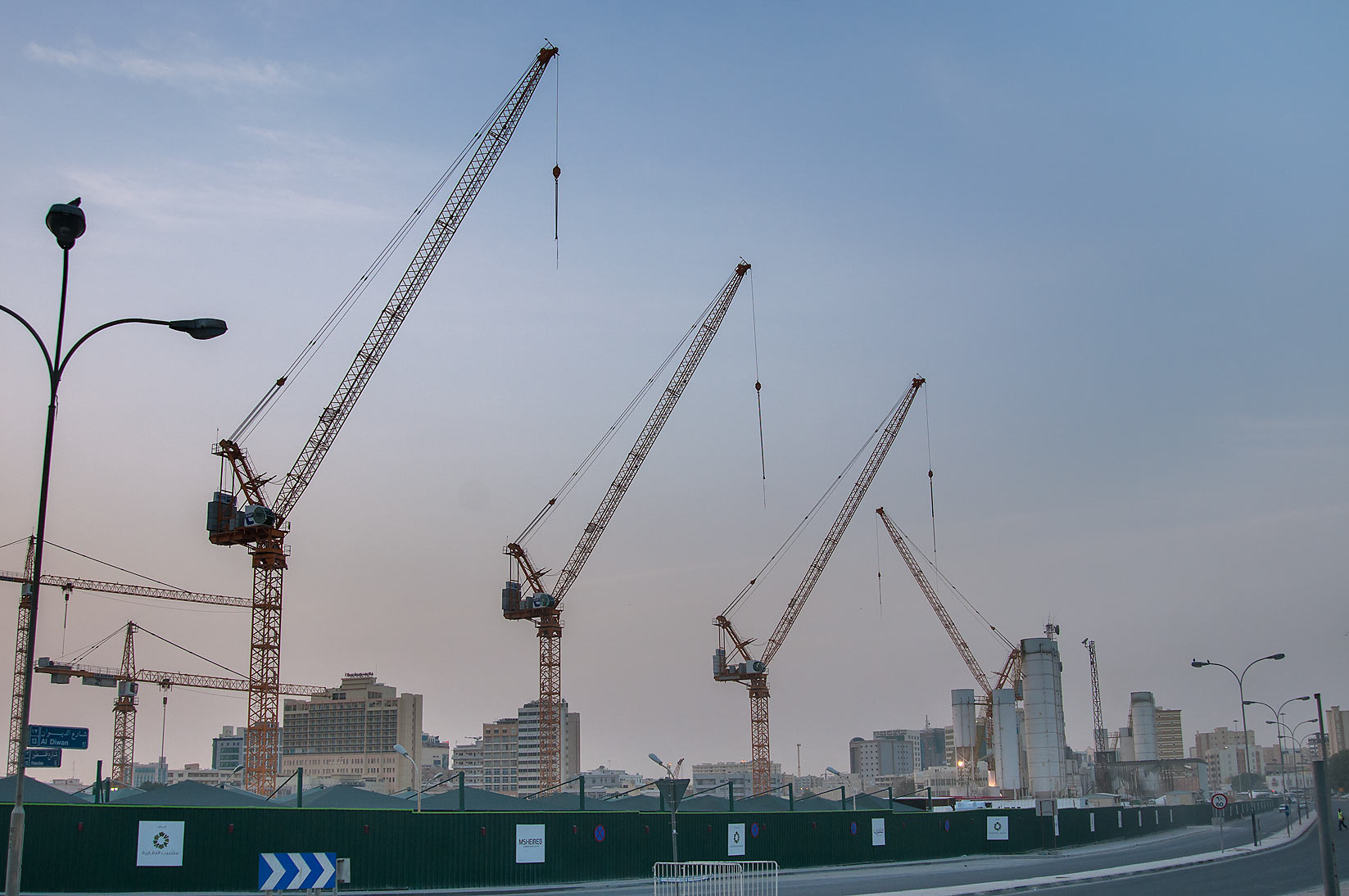 Mushereb Development with cranes. Doha, Qatar