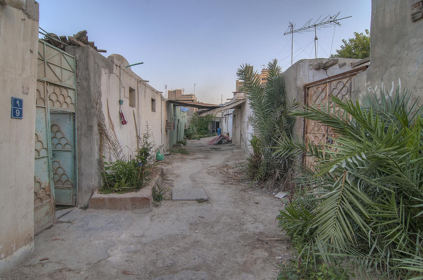 Alleyway separating residential units (sikka...St., Musheirib area. Doha, Qatar