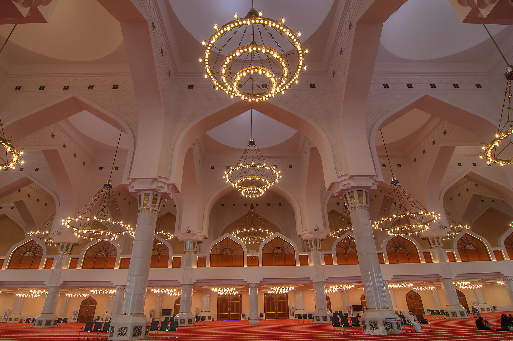 Interior of State Mosque (Sheikh Muhammad Ibn Abdul Wahhab Mosque). Doha, Qatar