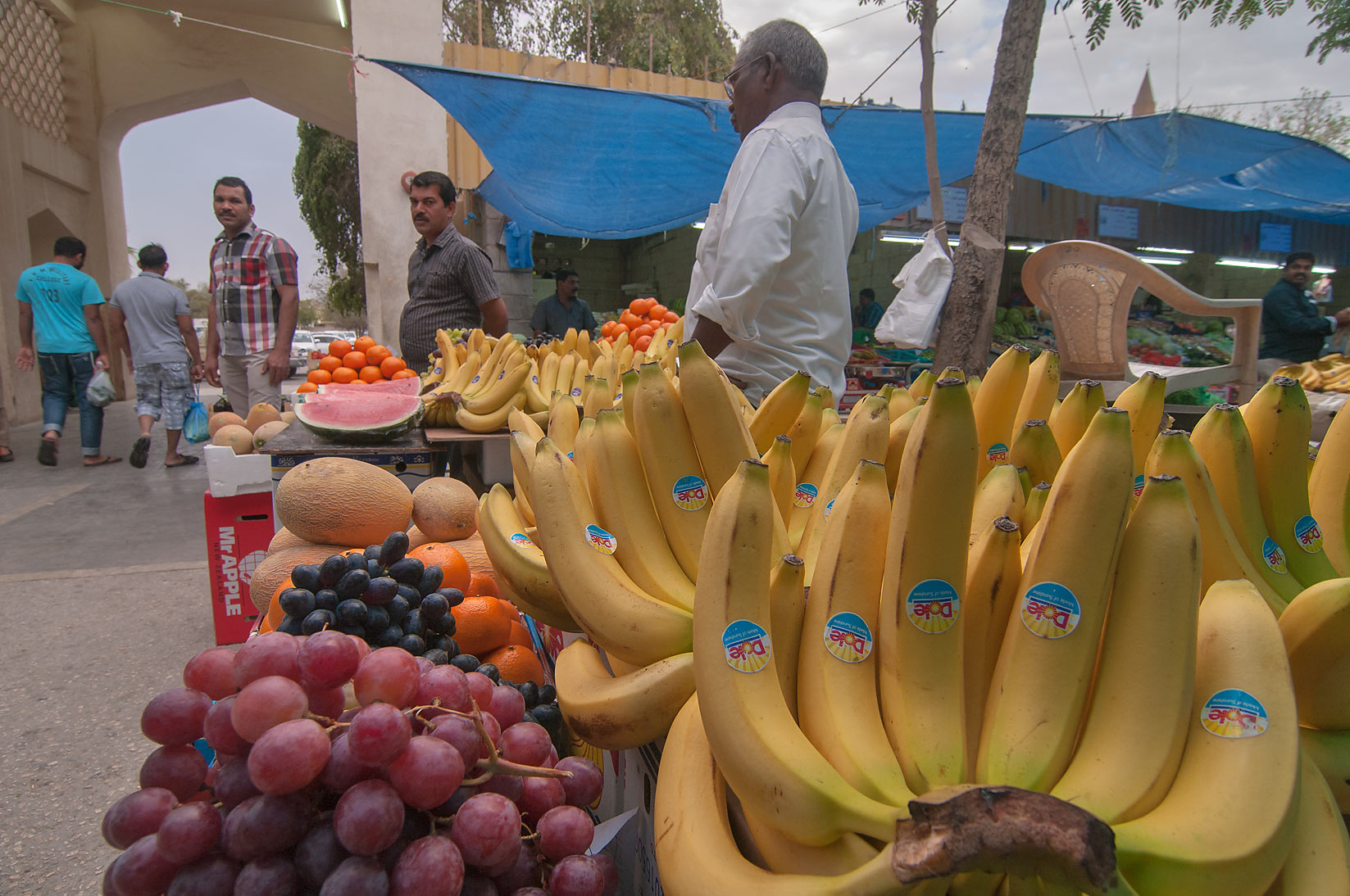 Banana in Vegetable and Fruit Market, Wholesale Markets area in Abu Hamour. Doha, Qatar