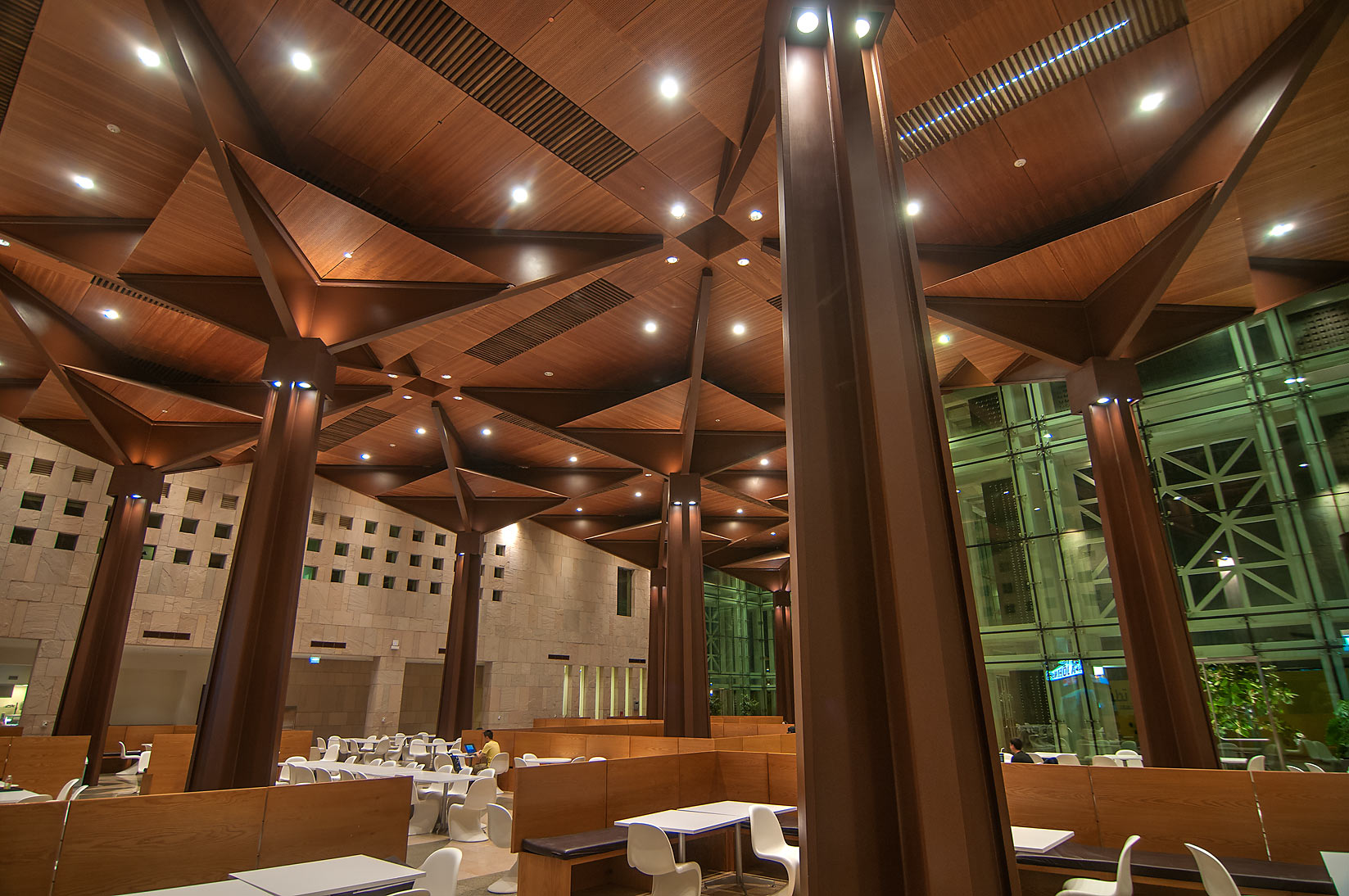 Dining room of Student Center in Education City campus. Doha, Qatar