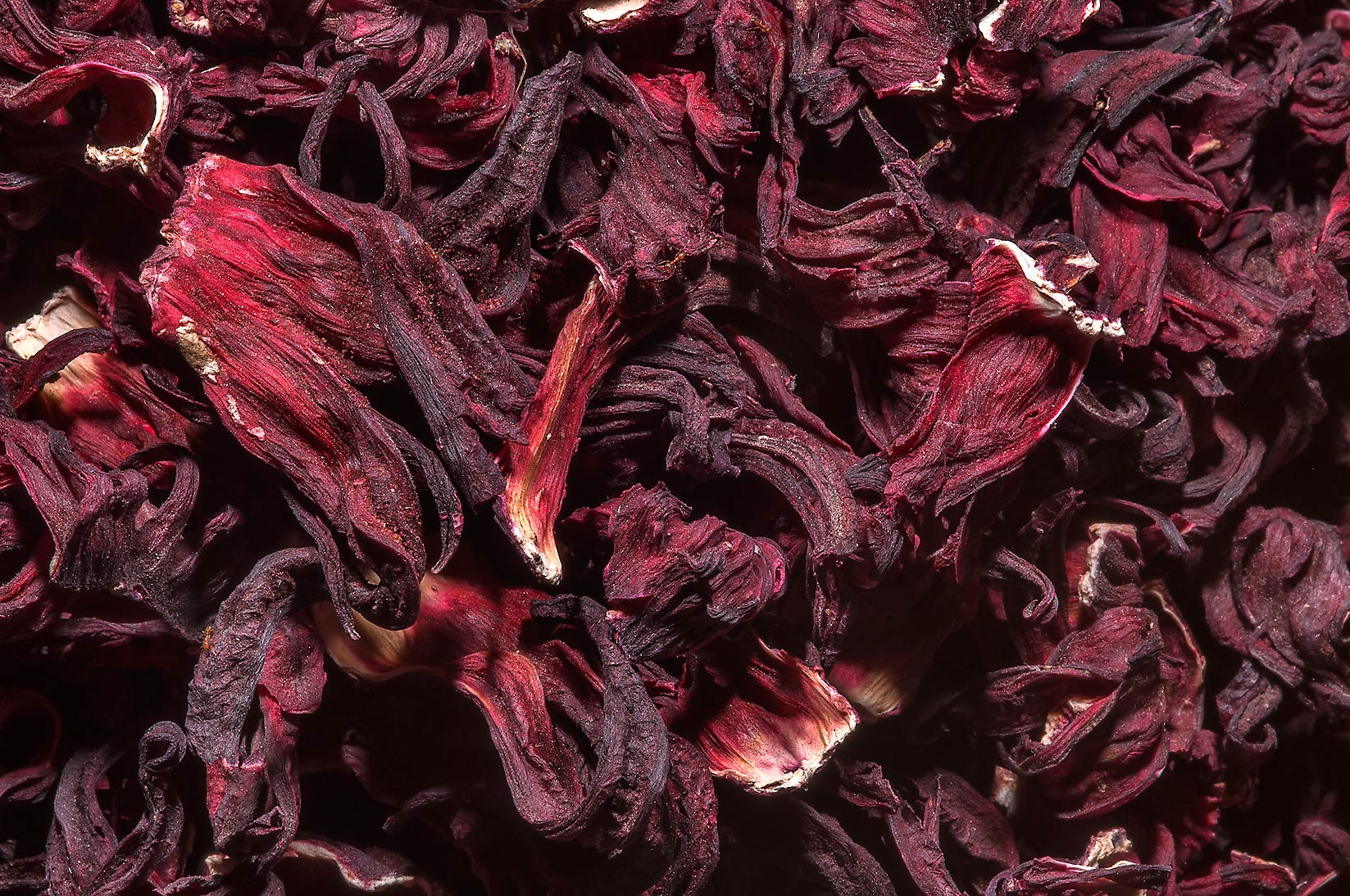 Dried rose petals(?) in spice section of Souq Waqif (Old Market). Doha ...