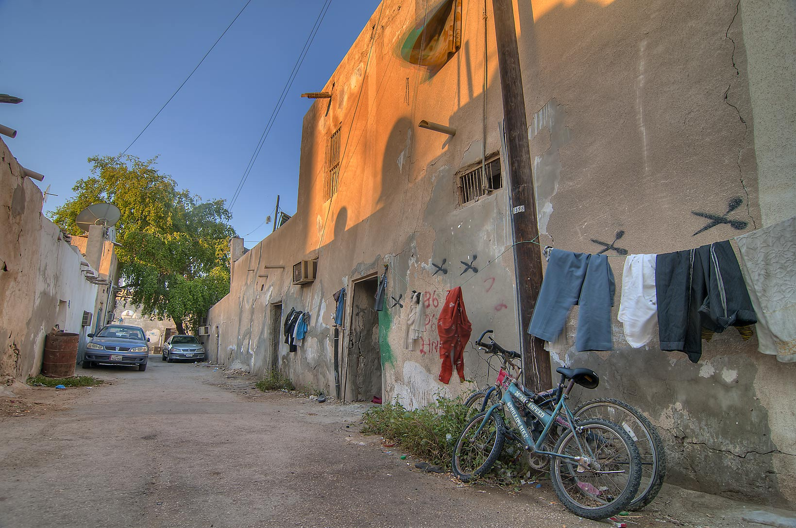 Old houses near Al Mugheera St., Musheirib area. Doha, Qatar