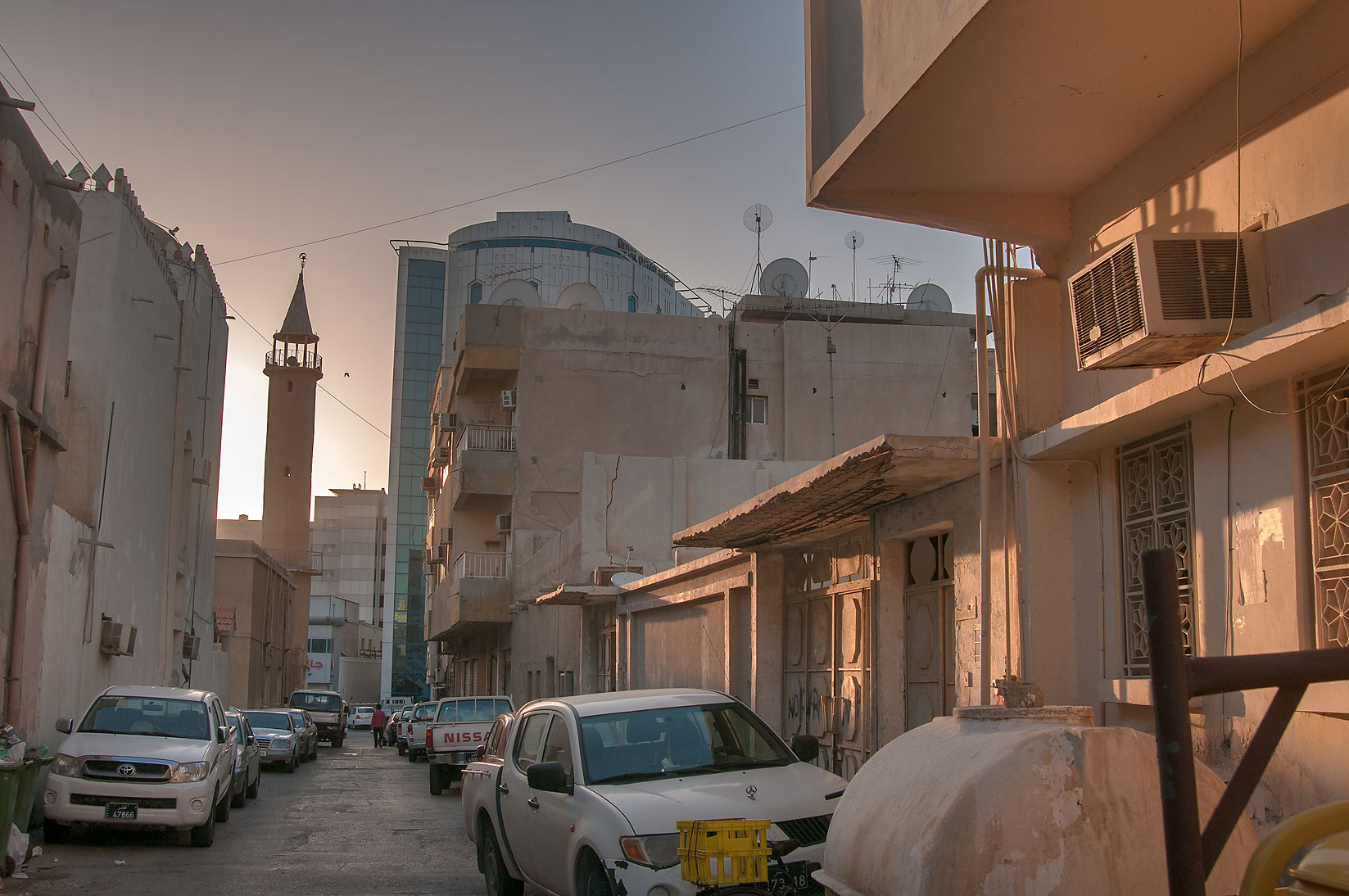 Al Maymoun St., view to the east, Musheirib area. Doha, Qatar