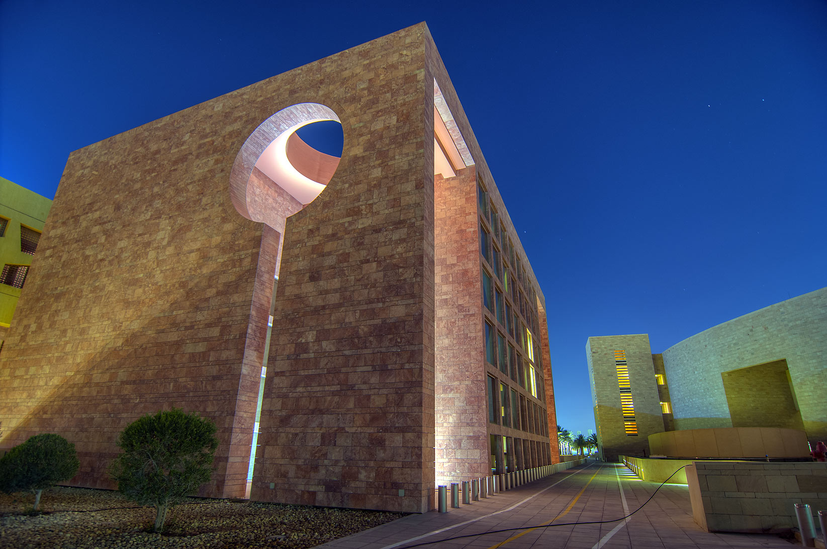 Keyhole appendix in backyard of Texas A&M...in Education City campus. Doha, Qatar