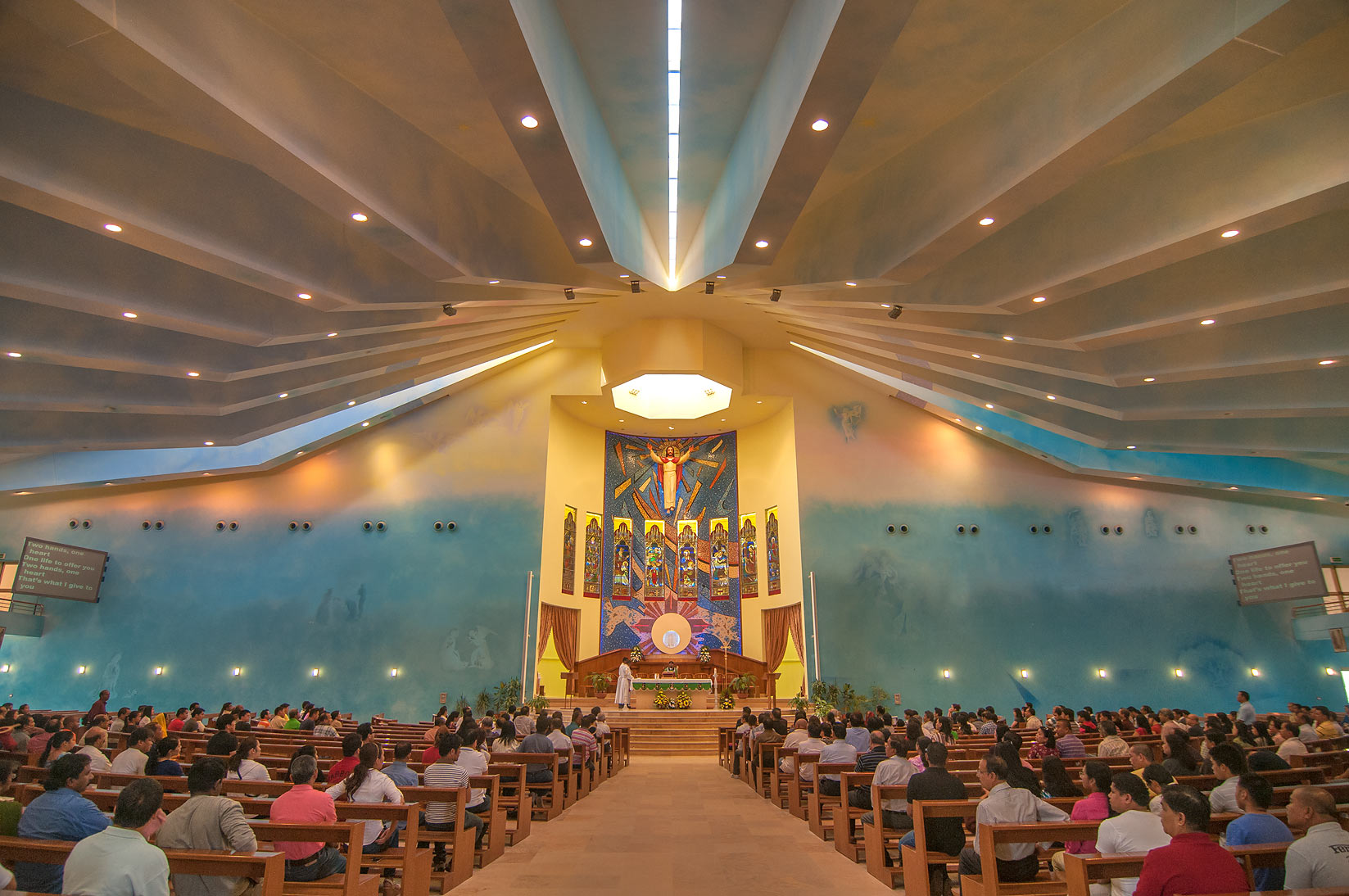 Our Lady of Rosary Catholic Church in Abu Hamour. Doha, Qatar