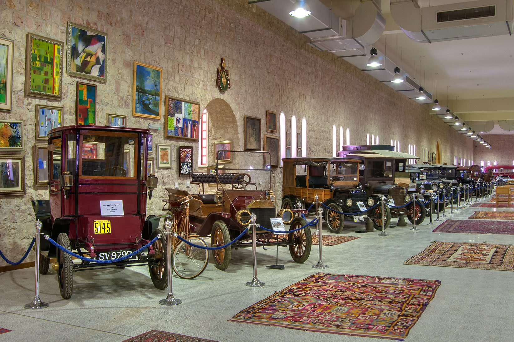 Antique and classic cars in Sheikh Faisal Bin...Museum near Al-Shahaniya. Doha, Qatar