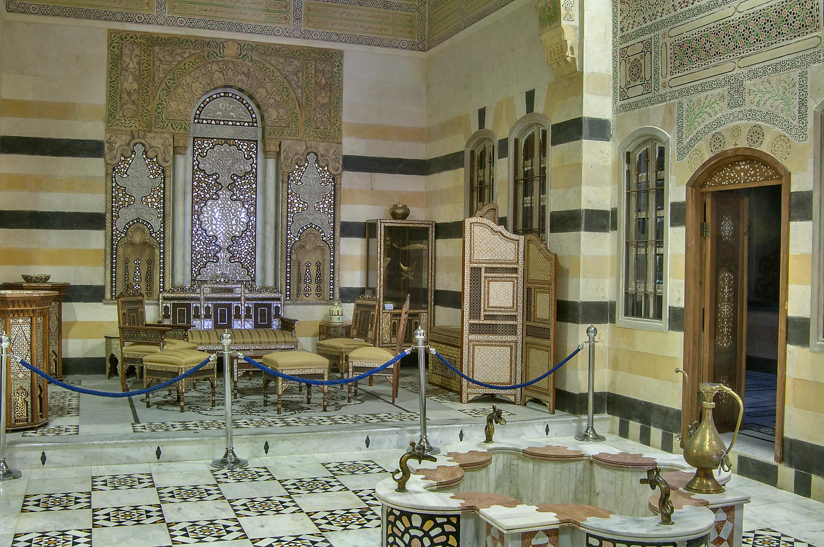 Traditional bathroom in Sheikh Faisal Bin Qassim...Museum near Al-Shahaniya. Doha, Qatar