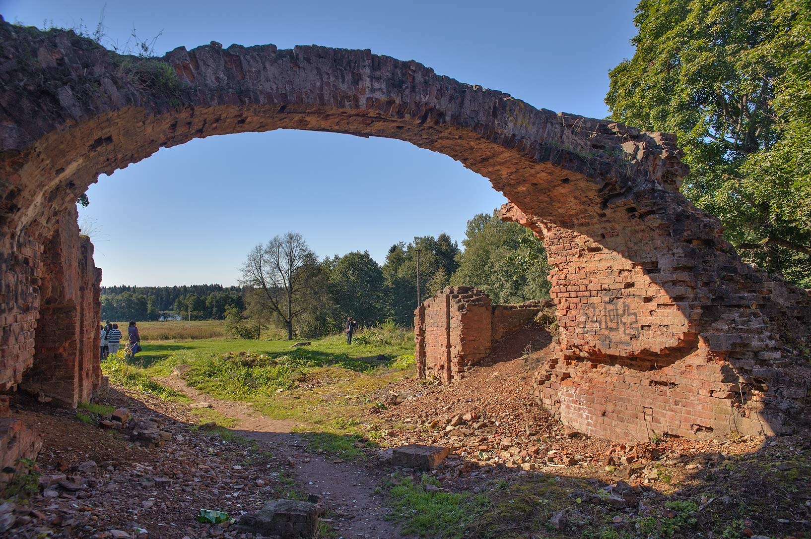 Ruins of Polovtsev (Rapti) Palace in...from Luga. Leningrad Region, Russia
