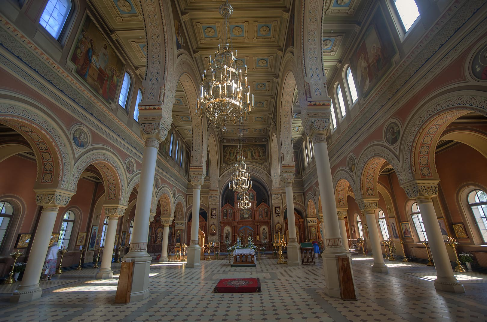 Interior of Vladimir Cathedral (orthodox church...part of St.Petersburg, Russia