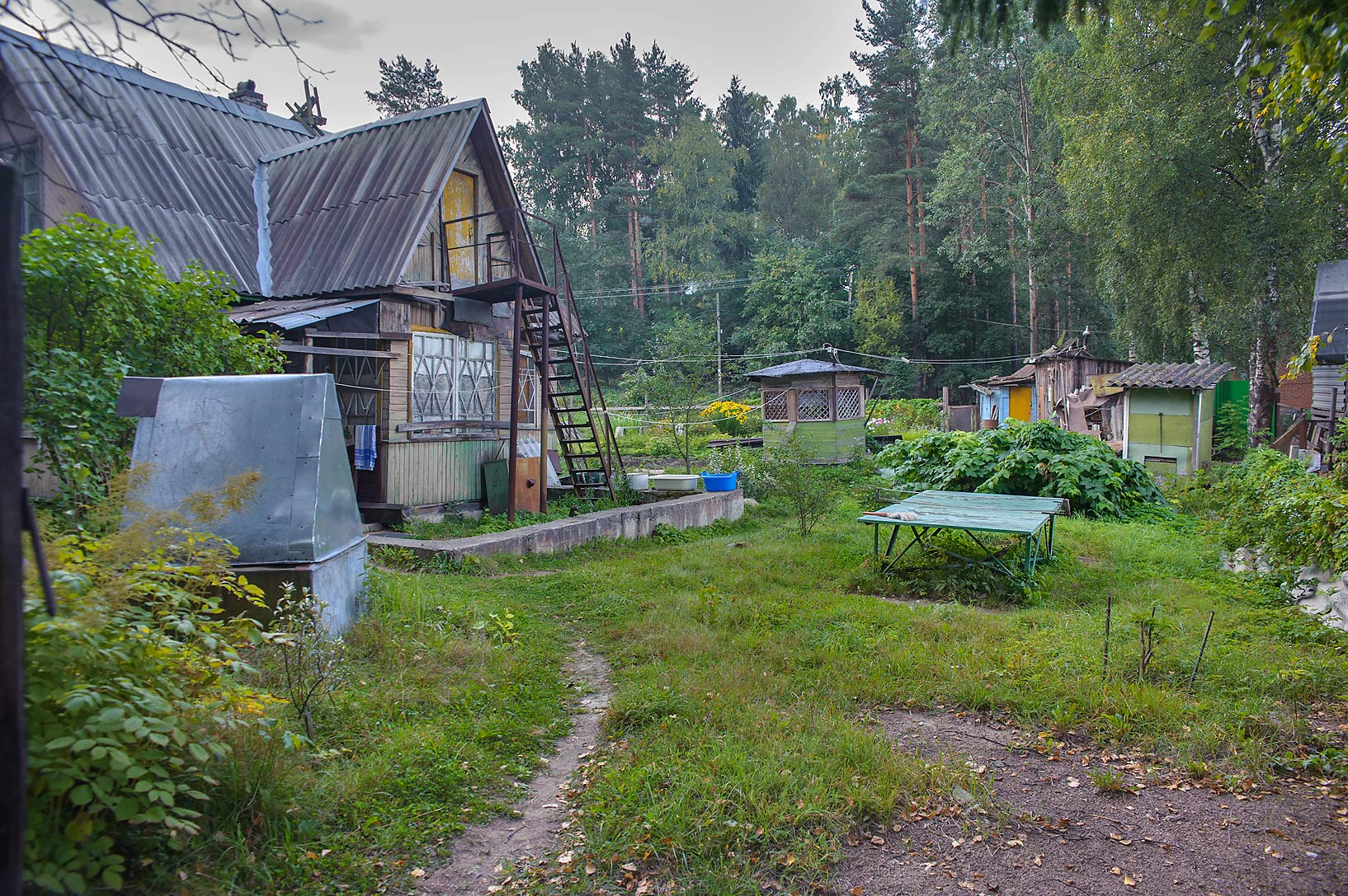 Dacha (summer house) at Borovaya St. in Toksovo, suburb of St.Petersburg. Russia