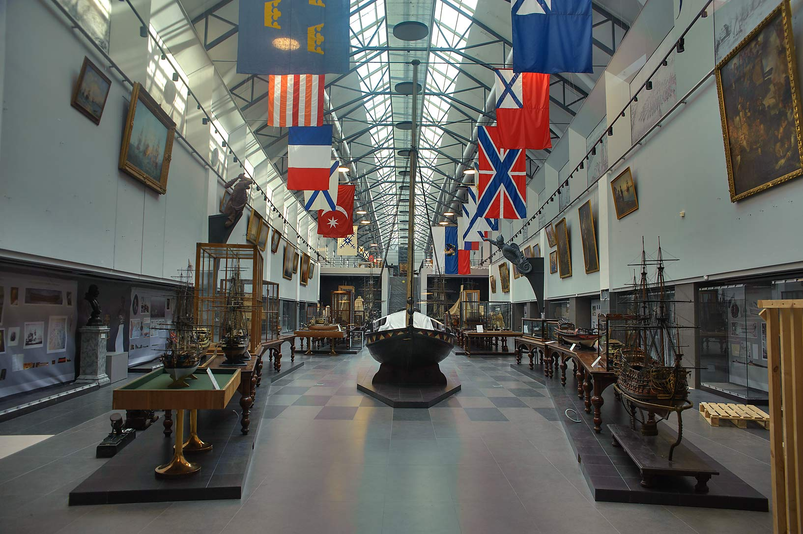 Expositions of Naval Museum. St.Petersburg, Russia