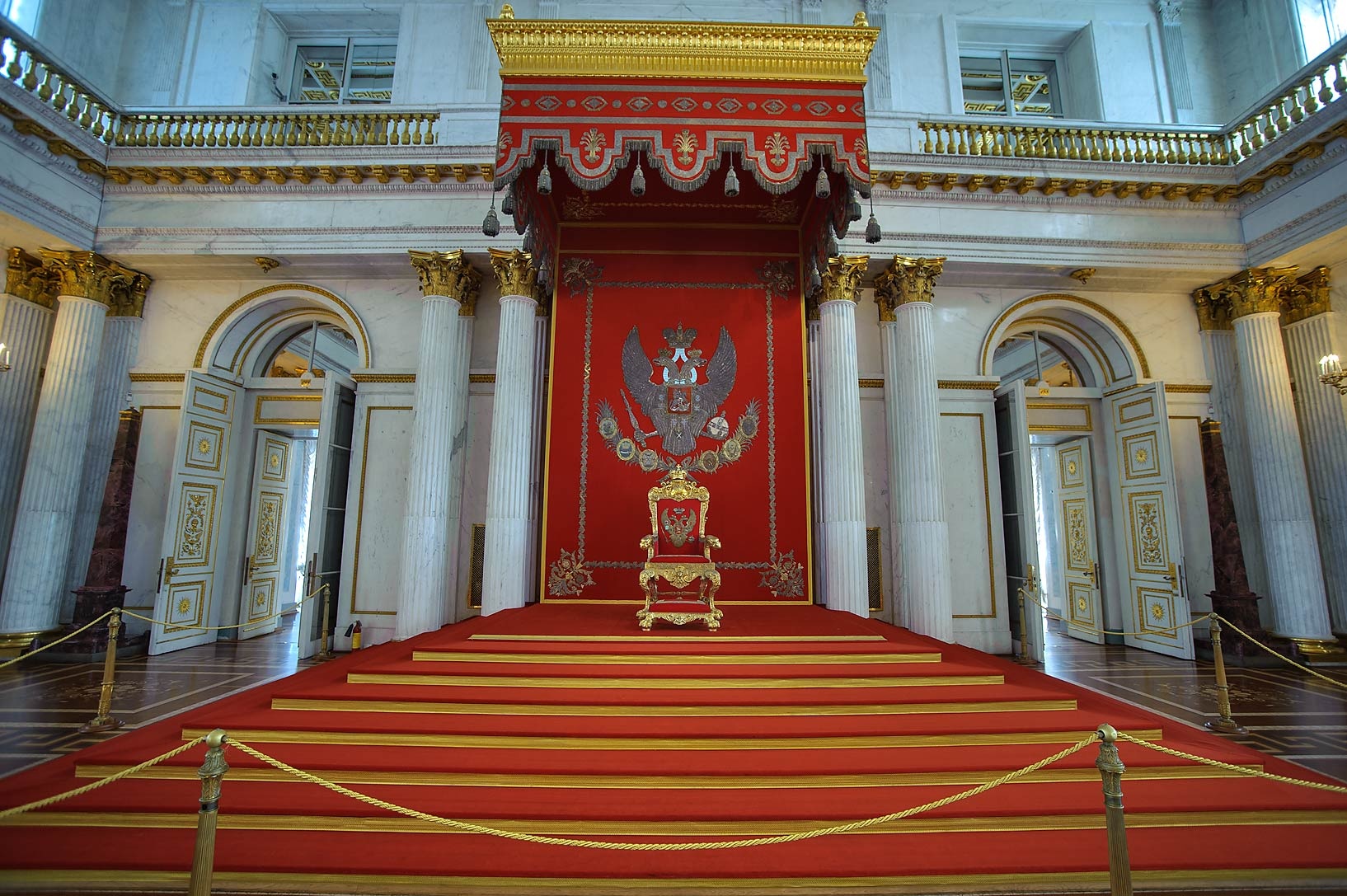 Throne Hall in Hermitage Museum. Petersburg, Russia