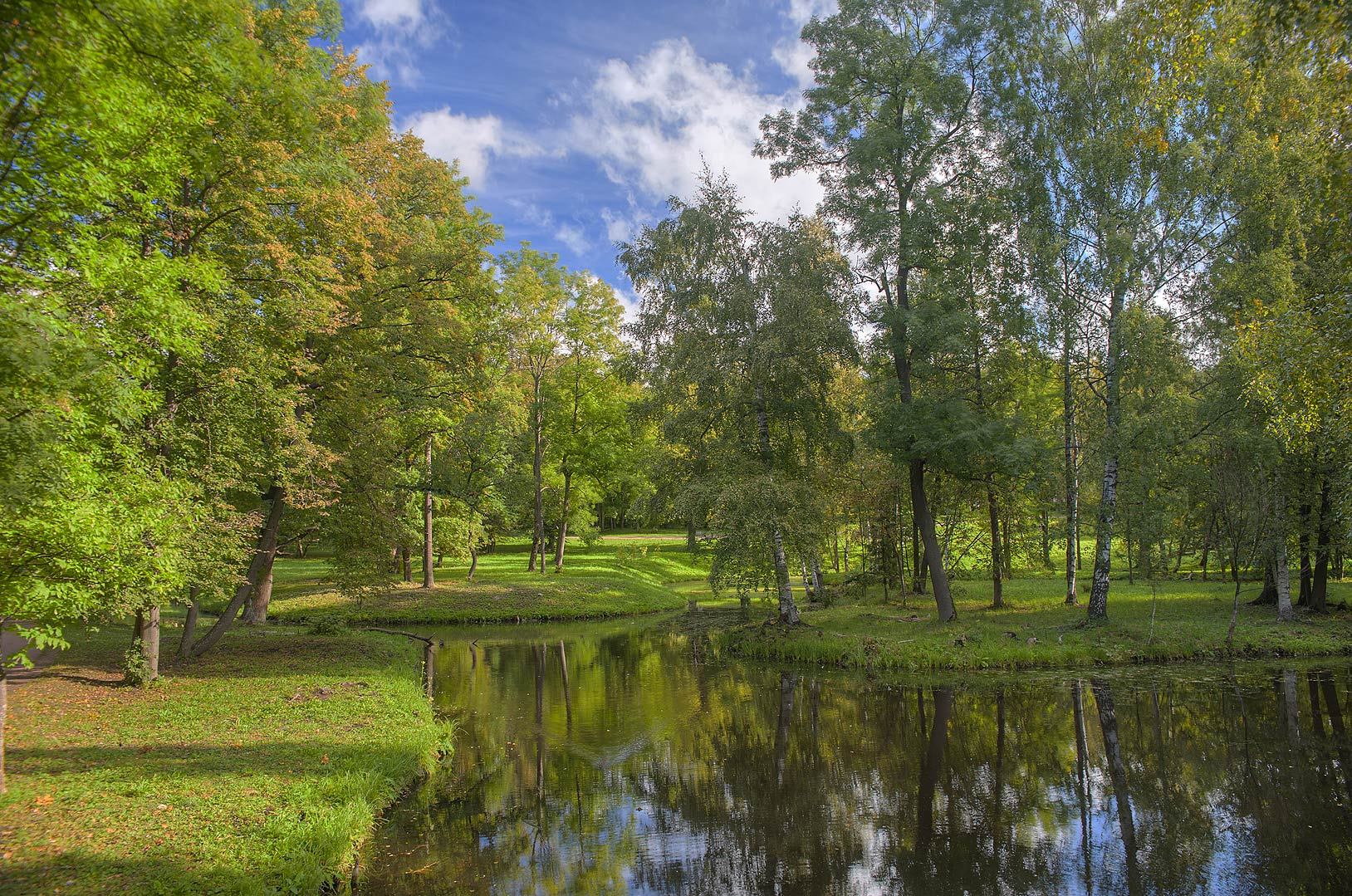 Area of Aquatic Labyrinth in Gatchina Park. Gatchina, a suburb of St.Petersburg, Russia