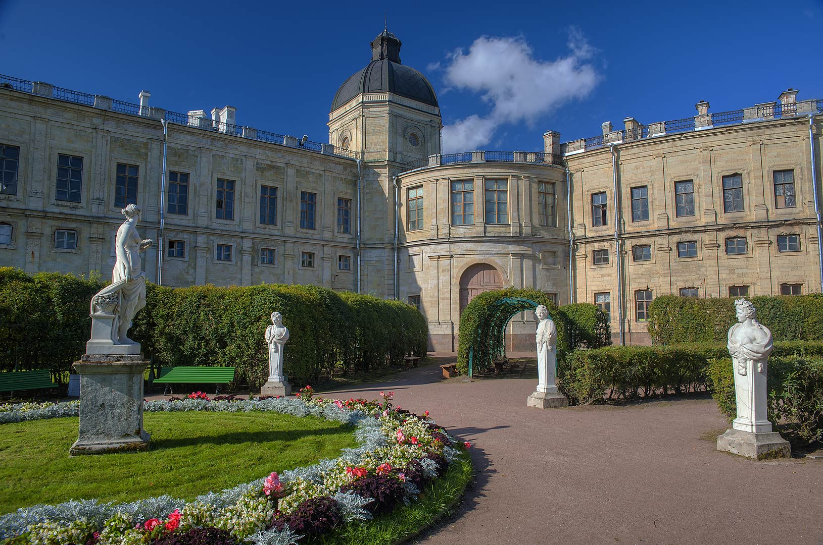 Own Garden of Emperor Paul I in Gatchina Park. Gatchina, a suburb of St.Petersburg, Russia