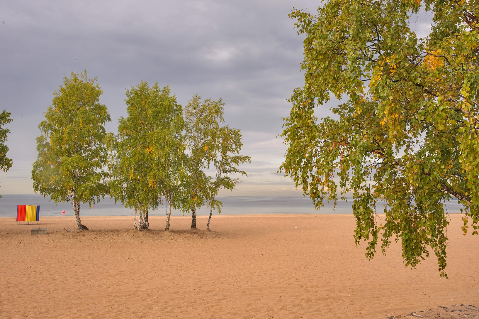 Gulf of Finland from Laskovy Beach in Solnechnoe, west from St.Petersburg. Russia