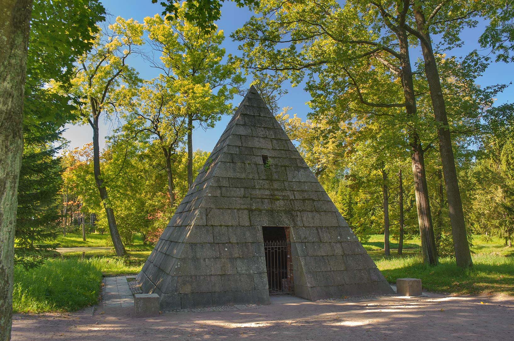 Pyramid (a tomb for greyhounds of Catherine II...a suburb of St.Petersburg. Russia