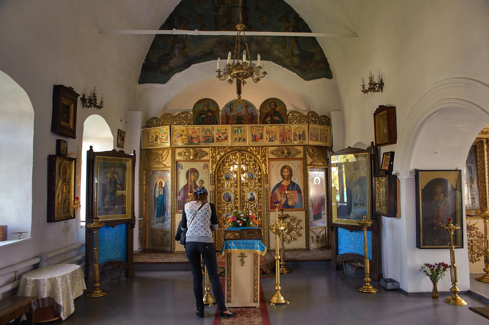 Altar of Savior-Transfiguration Church (Spaso...St. in Porkhov, Pskov Region. Russia