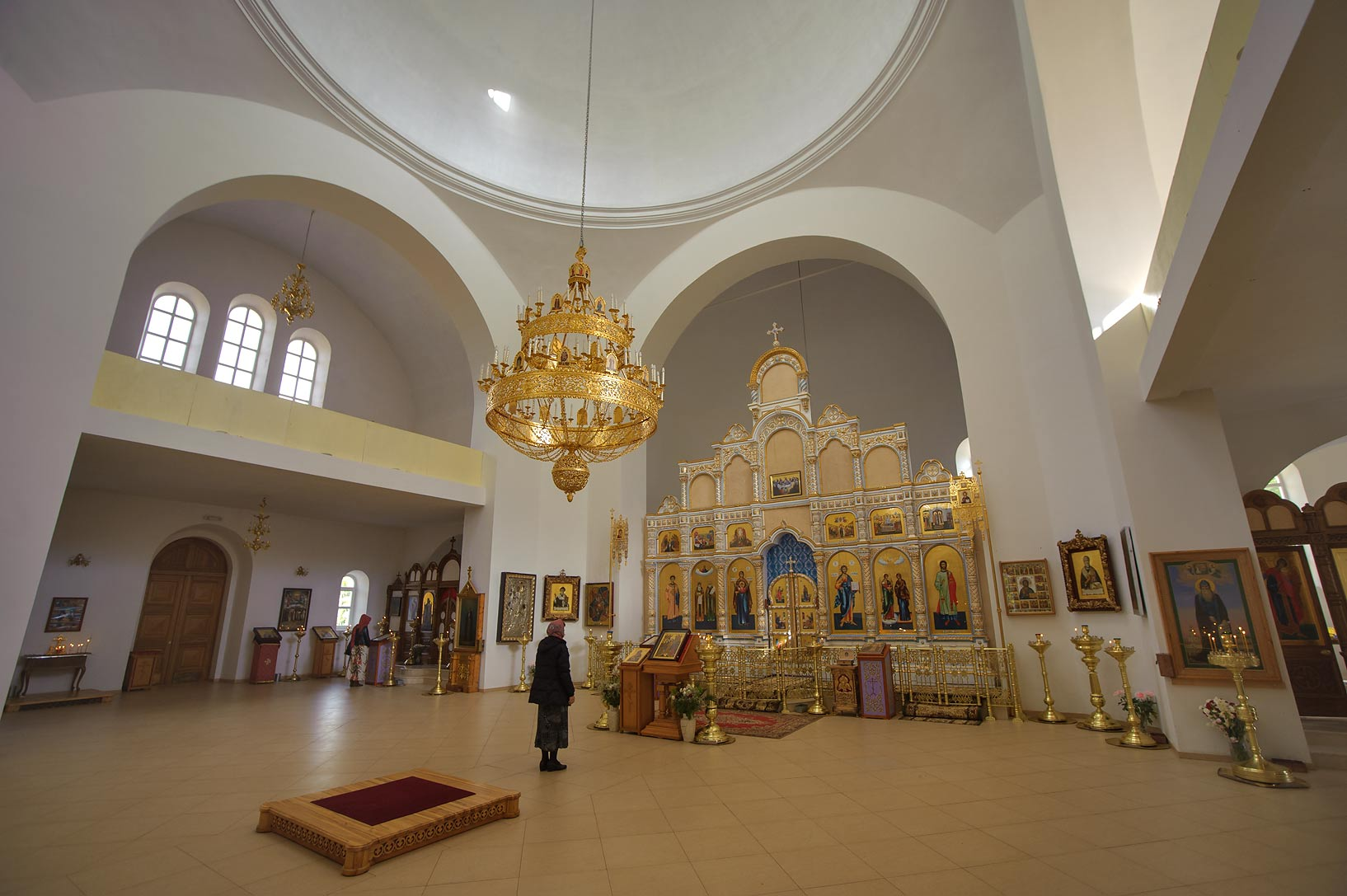 Interior of Cathedral of Blagoveshcheniya...Pustyn). Pskov Region, Russia