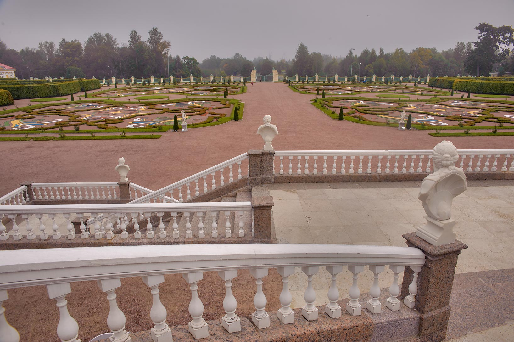 Lower garden from grand staircase of Great...West from St.Petersburg, Russia