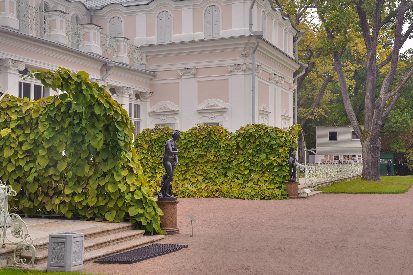 Backyard of Chinese Palace in Lomonosov (Oranienbaum). West from St.Petersburg, Russia