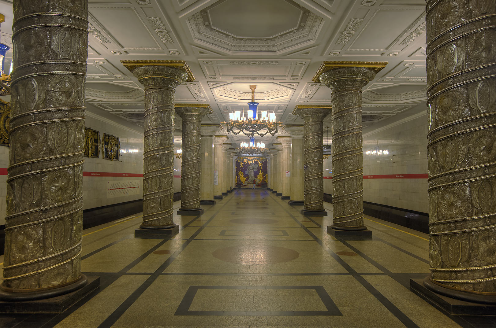 Avtovo subway station (Metro). St.Petersburg, Russia