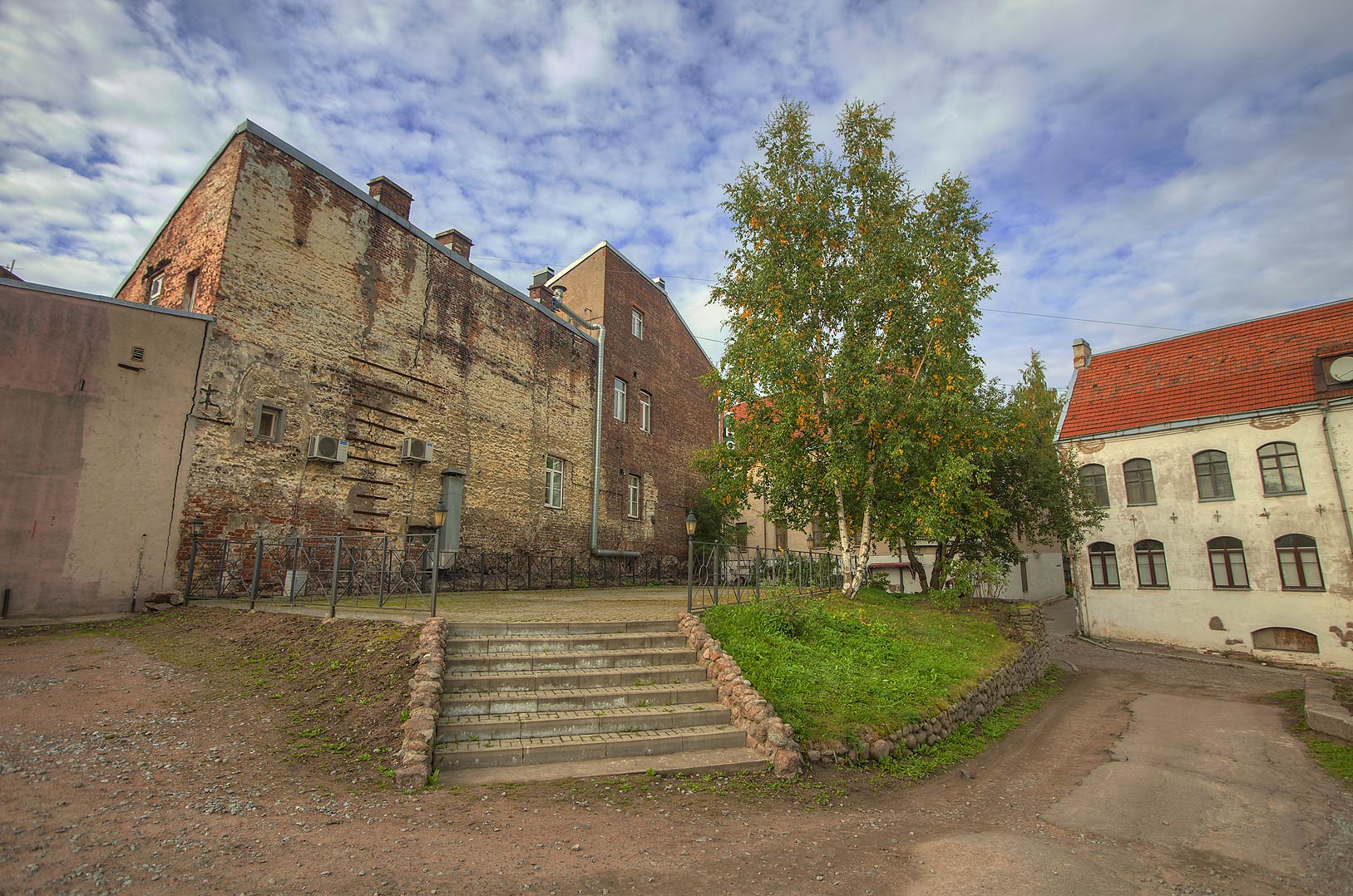 Area between Podgornaya and Vodnoy Zastavy streets. Vyborg, Russia